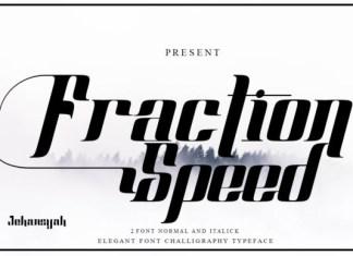 Fraction Speed Font