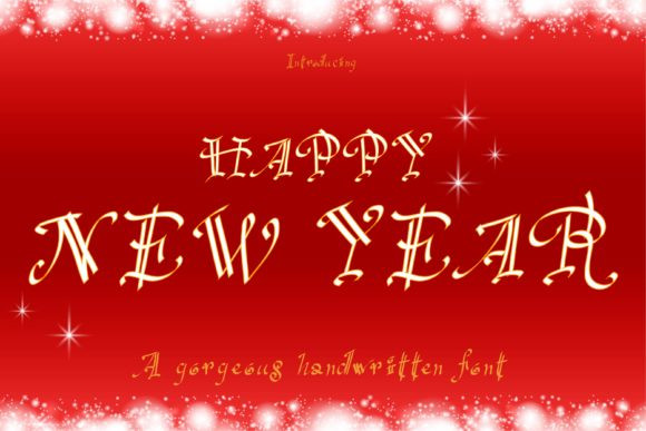 Happy New Year Font