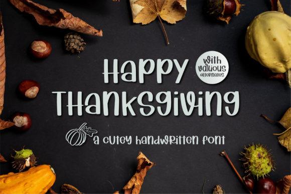 Happy Thanksgiving Font