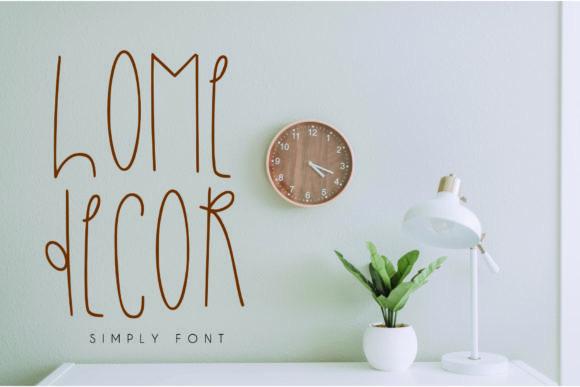 Home Decor Font