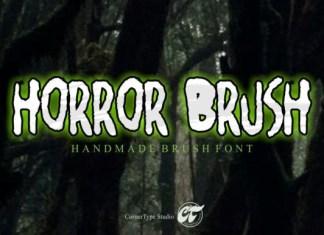 Horror Brush Font