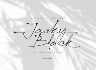 Jacky Black Font