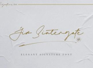 Jim Sintergate Font
