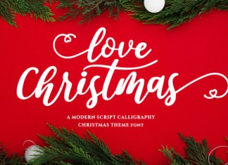 Love Christmas Font
