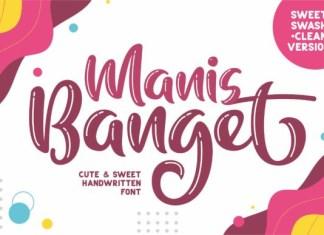 Manis Banget Font