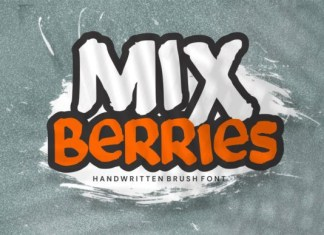 Mix Berries Font