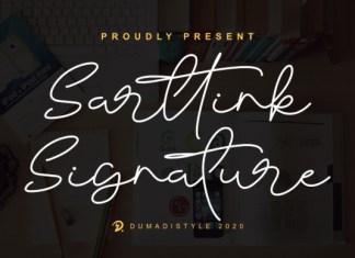 Sarttink Signature Font