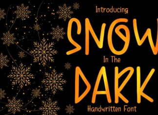 Snow in the Dark Font