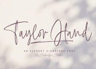 Taylor Hand Font