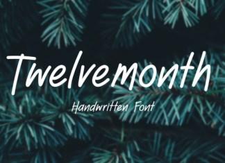 Twelve Month Font