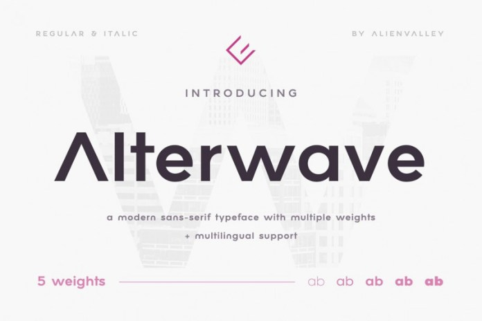 Alterwave Font