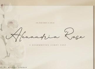 Alexandria Rose Font
