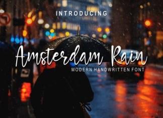 Amsterdam Rain Font