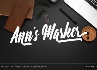 Ann's Marker Font