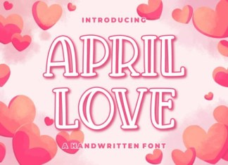 April Love Font