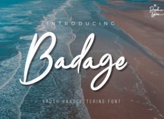 Badage Font