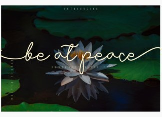 Be at Peace Font