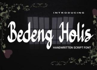 Bedeng Holis Font