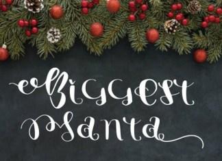 Biggest Santa Font