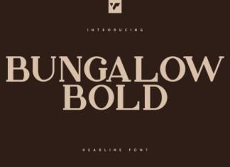 Bungalow Headline Bold Font