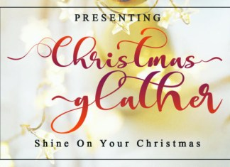 Christmas Glather Font