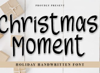 Christmas Moments Font