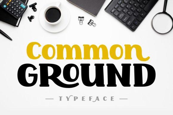 Common Ground Font