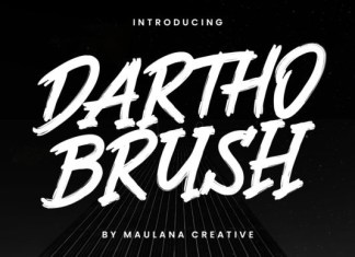 Dartho Brush Font