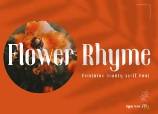 Flower Rhyme Font