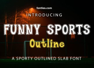 Funny Sports Outline Font