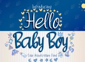 Hello Baby Boy Font