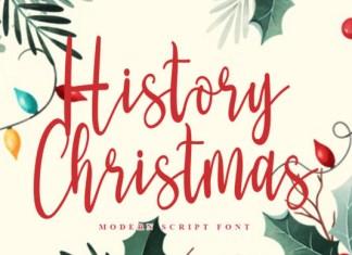 History Christmas Font