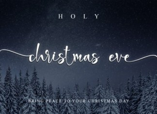 Holy Christmas Eve Font