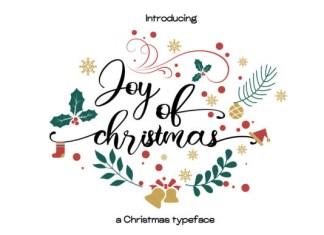 Joy of Christmas Font