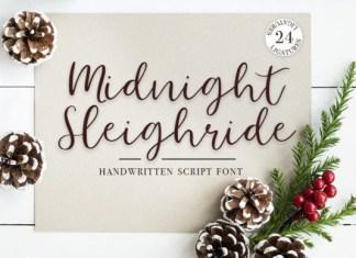 Midnight Sleighride Font