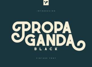 Propaganda Black Font