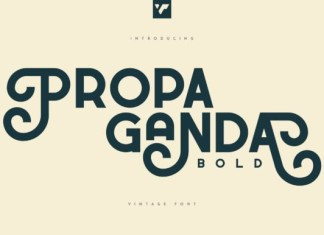 Propaganda Bold Font