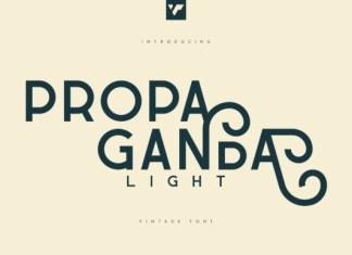 Propaganda Light Font