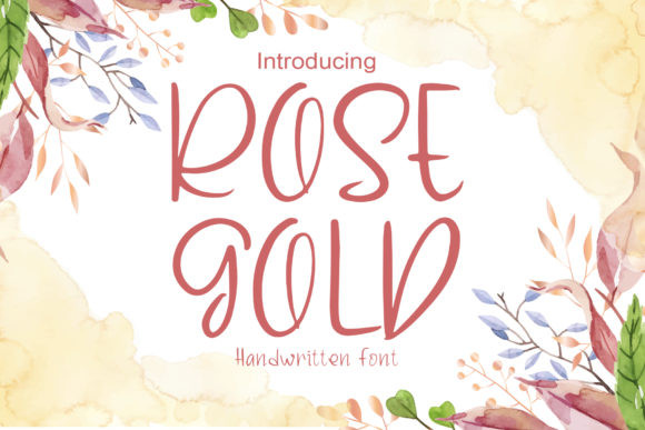 Rose Gold Font