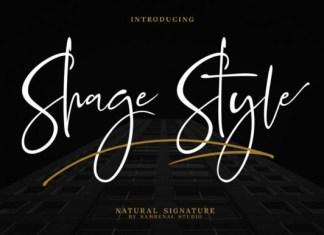 Shage Style Font