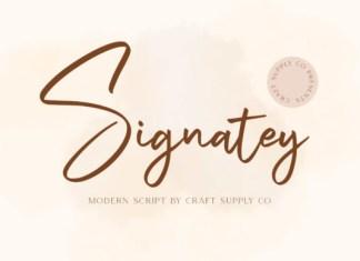 Signatey Font