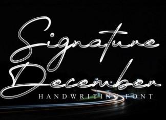 Signature December Font