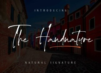 The Handnature Font