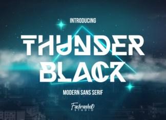 Thunder Black Font