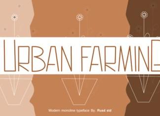 Urban Farming Font