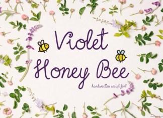 Violet Honey Bee Font