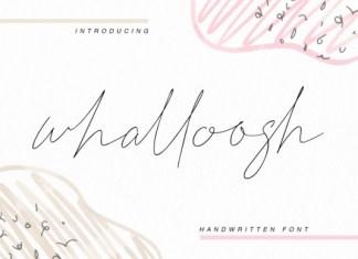 Whalloosh Font
