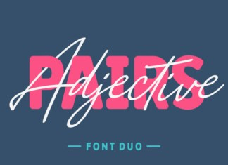 Adjective Pairs Font