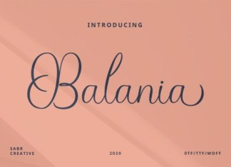 Balania Font