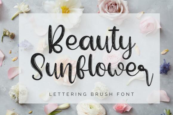 Beauty Sunflower Font